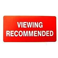 Eigentums Vertrieb Etikett , Text: VIWEING EMPFOHLEN FÜR , Rot , Rechteck , Immobilien & Letting Vermittler selbstklebende Aufkleber