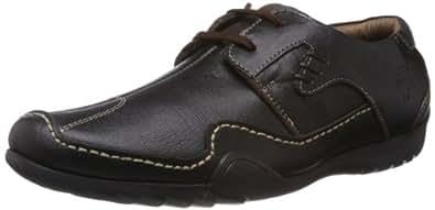 Buckaroo Men's Cira NX C Coffee Leather Sneakers - 11 UK