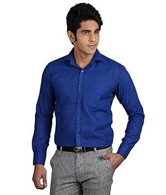 ZAKOD Plain Men's Wear Cotton Shirts for Casual Wear Purpose, Shirts,Available Sizes M=38,L=40,XL=42,100% Pure Cotton Shirts,6 Colors Available