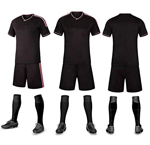 Zhaolian888 t-shirt personalizzata jersey abbigliamento sportivo da calcio e pantaloni corti e calzini da calcio, personalizzati con logo, nome e numero per bambini adulti