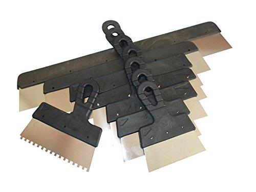 8-tlg. Fassadenspachtel-Set Rakel Spachtel Breitspachtel rostfrei mit Kunststoffgriff