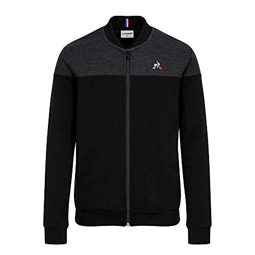 le coq Sportif Jungen Tri Fz Sweat N°1 Enfant St/Black Sweatshirt, Schwarz/Schwarz, 10A