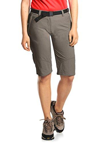MAIER SPORTS Damen Bermuda Lawa aus 90% PA 10% EL in 25 Größen, Outdoorhose/ Funktionshose/ Shorts inkl. Gürtel, bi-elastisch, schnelltrocknend und wasserabweisend, Größe 48