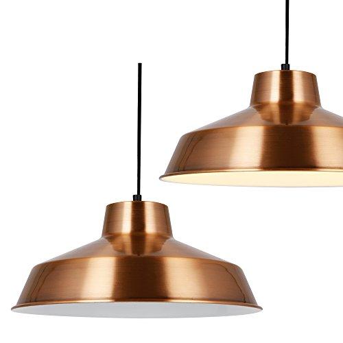 [lux.pro] Hängeleuchte Design Decken-Lampe Kupfer Metall [Ø35cm] Pendelleuchte (Vintage Retro Zeichen)