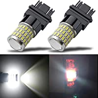 مصابيح LED جديدة ساطعة للغاية 9-30 فولت من iBrightstar 3156 3157 3057 4157 مع استبدال جهاز الإسقاط للأضواء العكسية الخلفية وأضواء الفرامل الخلفية، أبيض زينون