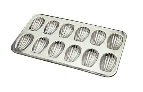 Gobel 164710 Backform für 12 Madeleines, aus Eisen, Weiß