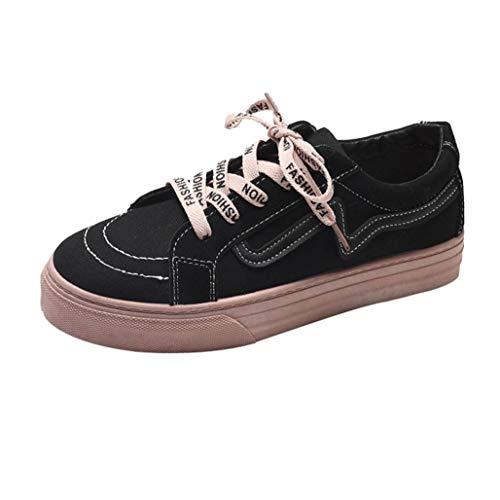 S&H NEEDRA Mode Frauen Flache Freizeitschuhe Vintage Board Schuhe Student Leinwand SchuheBequem...