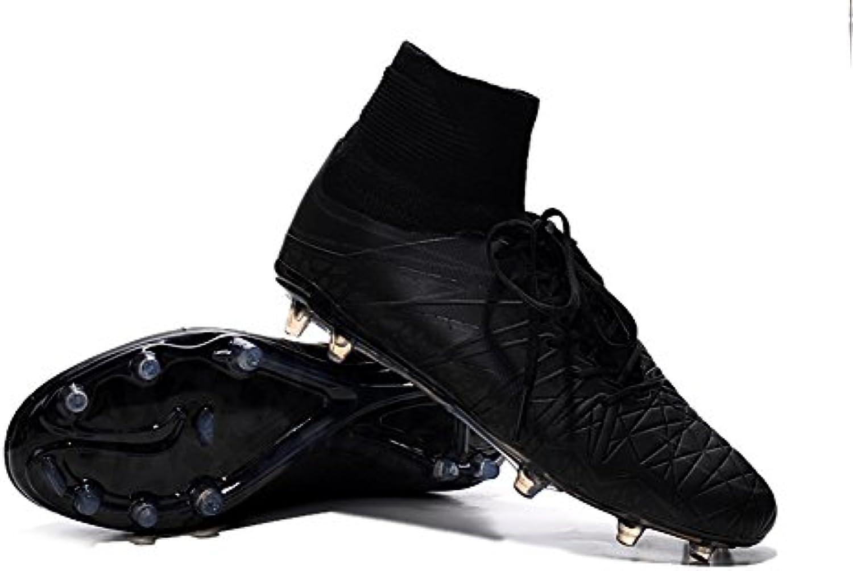 demonry Schuhe Herren Hypervenom phantom II FG schwarz Fußball Stiefel