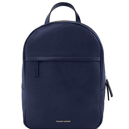 Tuscany Leather - TL Bag - Sac à dos pour femme en cuir - Bleu foncé