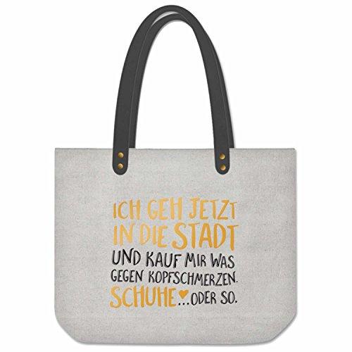 LS Design Shopper Schultertasche Umhängetasche Einkaufstasche Print Schuhe (Kolonial Schuhe)