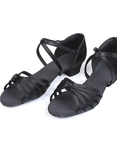 shangyi ajustables–talon compensé–Satin–Latin/Salsa–Enfants Marron - marron