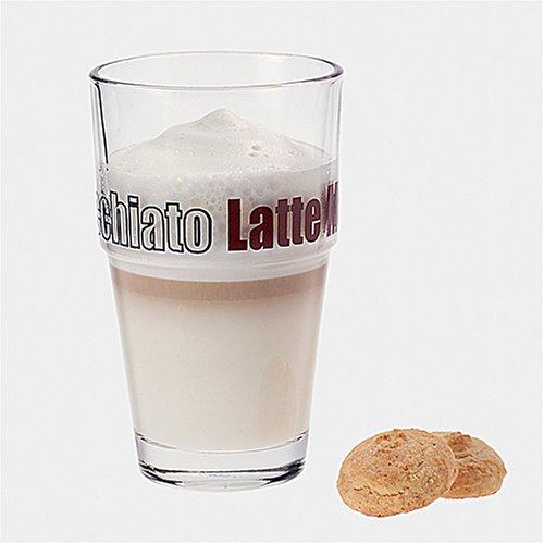 Leonardo Solo Becher Latte Macchiato, 6-er Set, 410 ml, spülmaschinengeeignet, Klarglas, 043399