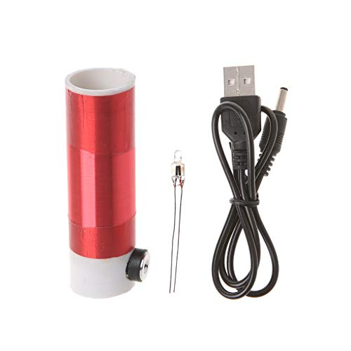 Jiheousty Tesla Coil Kit von Mini-Modell USB 5V Netzteil für DIY Amateure Self-Made Lampe Blitz Wireless Transmission Experiment (Spule Usb-blitz-kabel)
