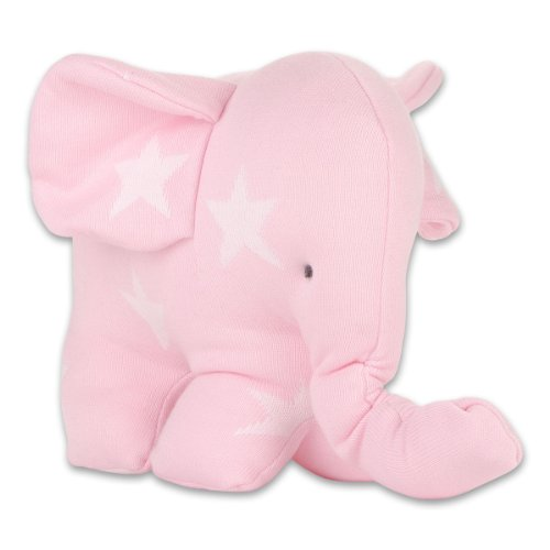 Baby's Only 915494 Elefant gestrickt, circa 25 cm, rosa/weiß