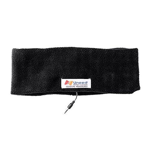 AFUNTA sommeil casque casque stéréo + laine polaire Cache-oreilles casque plus confortable pour dormir - accessoire parfait pour Air Voyages