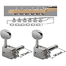 wlkinson Juego 6 clavijas para guitarra eléctrica capa Tele Fender Wilkinson ...