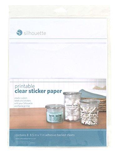 Silhouette druckbares Stickerpapier, durchsichtig -