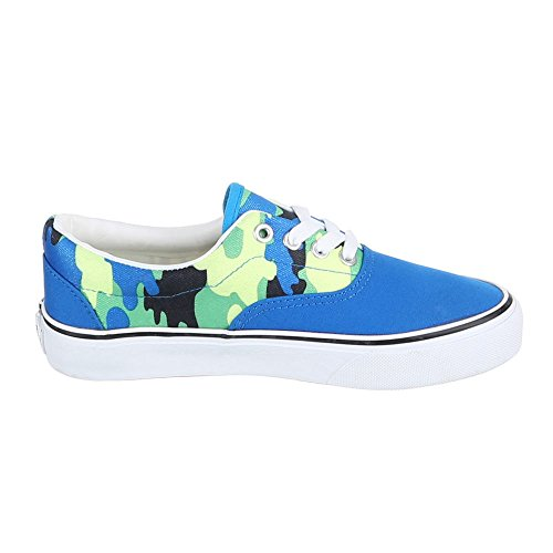 Chaussures femme, yj876013–5, loisirs chaussures à lacets Sneakers Bleu - Bleu
