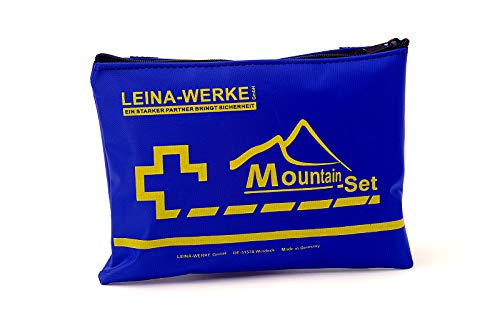 LEINA-WERKE 50004 Berg Set Erste-Hilfe-Kit in einem Beutel, Blau, 185 x 130 mm