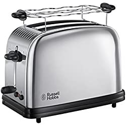 Russell Hobbs 23310-56 Toaster Grille Pain 1670W Chester Inox, 2 Fentes, Chauffe Viennoiseries, Rapide