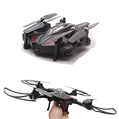 OKPOW Foldable RC Drone APP Control Aerial Quadcopter Drone One Key Return 2.4G 6-Axis Gyro Drone 360° Rotation Altitude Hold Headless Mode Gravity Sensor RC Quadrotor with FPV 720P Lens 0.3MP Camera and LED light Black