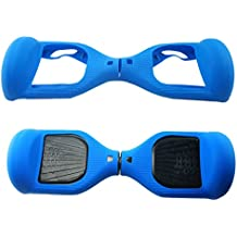 Funda de protección de silicona para monopatín eléctrico de 6,5 pulgadas, azul