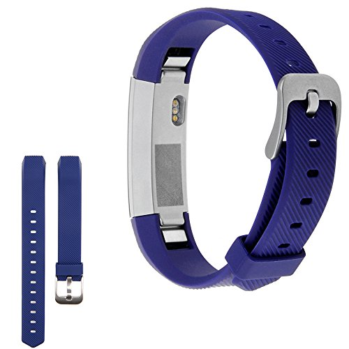 snowcinda-bracelet-strap-silicone-band-replacement-for-fitbit-alta-smart-fitness-watch-buckle-navy-b