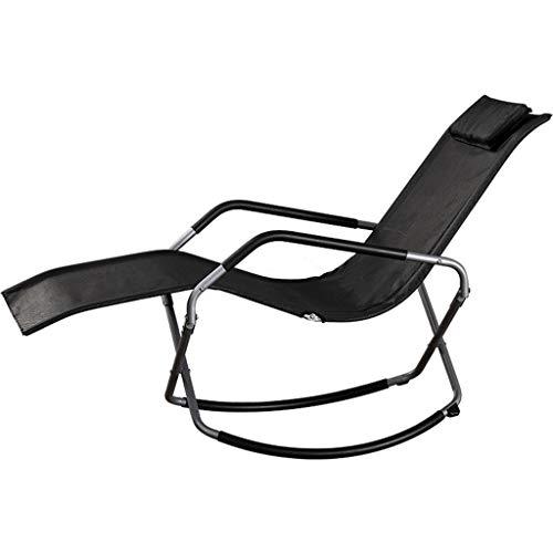 JFya Klappstuhl Klappstuhl im Freien Mittagspause Büro Nickerchen Bett flach Legen Mittagspause Stuhl Klappbett tragbaren faulen Stuhl