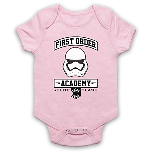 Star Wars First Order Academy Babystrampler, Hellrosa, 0-3 Monate