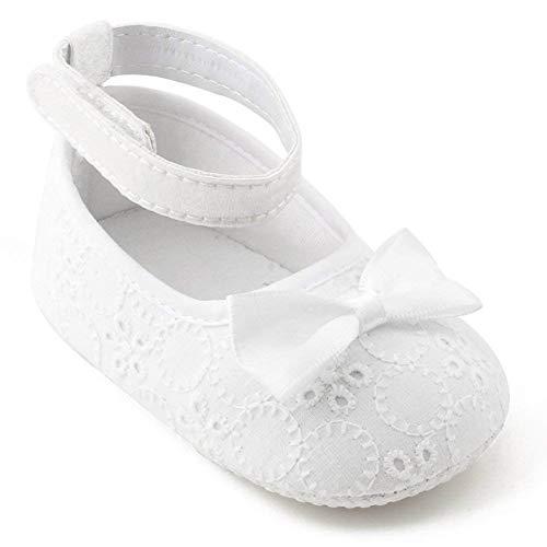 OOSAKU Zapatos para niñas pequeñas Zapatos de Bautismo para bautizos Zapatos Antideslizantes, Zapatos...