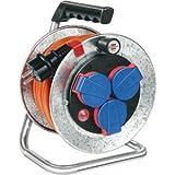 Brennenstuhl Kabeltrommel Garant S Kompakt IP44 3-fach 10m AT-N07V3V3-F 3 G1,5 Kabelfarbe orange