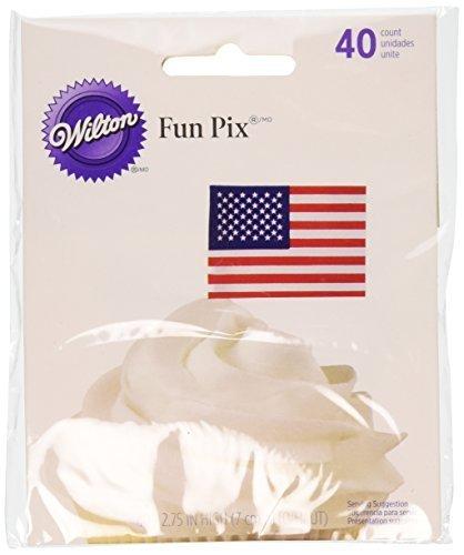Wilton 2113-704 Patriotic Party Picks, 40-Pack by Wilton