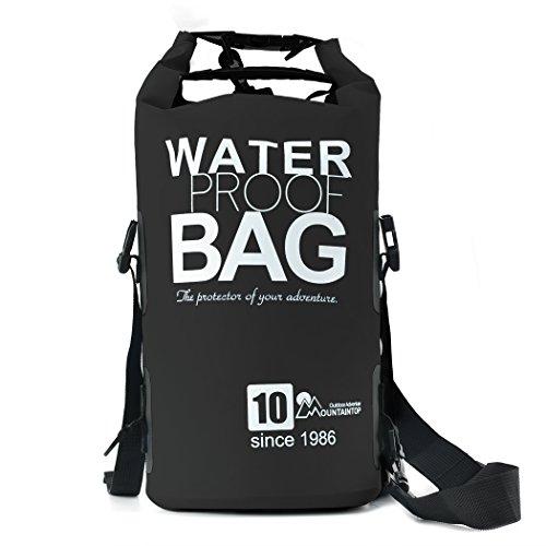 Mountaintop 10L / 25L Bolsa Seca Impermeable del bolso para canotaje, kayak, pesca, playa, rafting, nadar, acampar con correa para el hombro