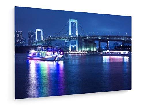 Tokyo Innenstadt in der Nacht - 30x20 cm - Leinwandbild auf Keilrahmen - Wand-Bild - Kunst, Gemälde, Foto, Bild auf Leinwand - Städte & Reise