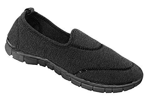 Mujer elástica Surf Cómodo Zapatillas Informal Andar Zapatillas Deporte Zapatillas Vacaciones Zapatillas - Negro, 36.5