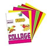 takestop Album Block Notes 60Feuilles Papier coloré Couleurs Fluo Fluorescent Assorties A4Album Feuilles 80GR école Bureau