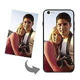 YJZQ iphone Coque Antichoc Étui Photo personnalisé Coque Dure Non Transparente Coque pour iPhone6/6s Plus iPhone7 Plus iPhone 8 X Housse étui Non Pliable
