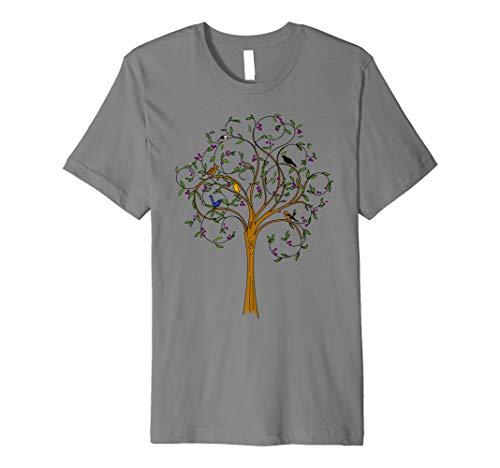 Vögel auf dem Baum T-Shirt Natur wildes Liebhaber T-Stück