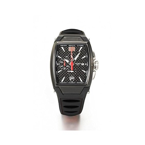 Orologio Locman DUCATI d550k09s-bkcbrdsk Al quarzo (batteria) Acciaio Quandrante Nero Cinturino Silicone