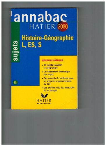 Annabac, sujets 2000 - histoire-géographie L, ES, S