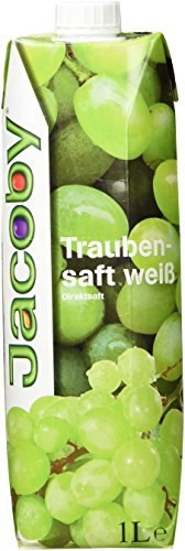 Jacoby Traubensaft weiss, 6er Pack (6 x 1 l) - Traubensaft Liter 1