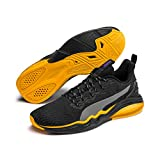 Puma Lqdcell Tension Rave', Scarpe Sportive Indoor Uomo, Nero Black-Orange Alert, 41 EU