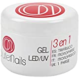 Gel Trifascio UV/LED 15ml para Uñas de OUTLET NAILS, transparente, Viscosidad media