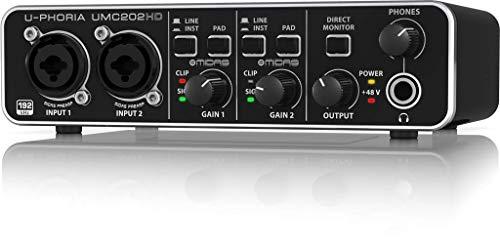 Behringer UMC202HD U-Phoria 2x2 192kHz USB Audio Interface