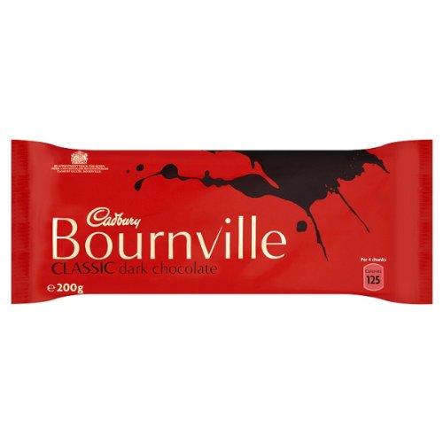 Cadbury Bournville Classic Dark Chocolate 200g - Pack of 18