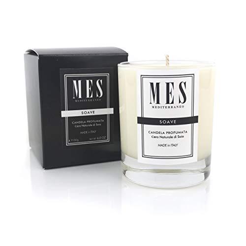 Duftkerze Aromaterapie aus natürlichem Sojawachs - Duft Soave - Brenndauer 35 Stunden - Granatapfel-parfüm Öl