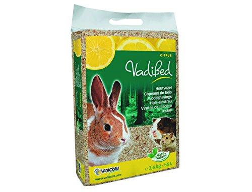 Lettiera in trucioli aromatizzata al limone per conigli, cavie, criceti e piccoli animali 3,6 kg 56 lt