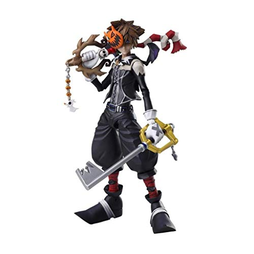 Siyushop Figura de acción Kai Arts Arts de Halloween Town Sora - Equipada con Armas, máscaras de Halloween y Manos reemplazables - Alta 16cm