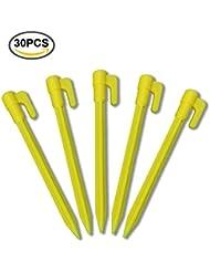 g2plus 30Stk erdanker erdspiesse 15cm Fixation Ancrage avec nouveau Crochets Idéal pour la sécurité de la Weed plastique