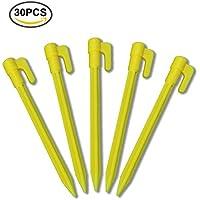 30STK anclajes erdspiesse 15cm anclaje con Volver Ganchos Ideal para asegurar la Weed plástico